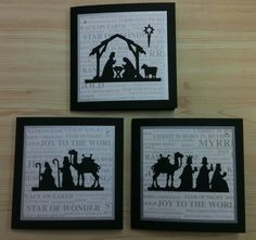 Cards using Cottage Cutz Nativity Silhouette dies Religious Christmas Cards, Christmas Card Crafts, Christmas Cards To Make, Christmas Nativity, Xmas Cards, Christmas Greetings, Handmade Christmas, Holiday Cards, Christmas 2017