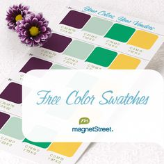 Get Free Printed Custom Wedding Color Swatches From Magnetstreet Perfect For Sharing Your