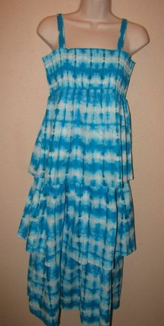 CALYPSO ST. BARTH for Target BLUE TIE DYE LONG TIERED MAXI DRESS Sz XL Sundress