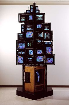Modern and Postmodern Art ( Nam June Paik, Postmodern Art, Memory Wall, Organic Art, Video Wall, Postmodernism, Medium Art, Jewellery Display, Visual Merchandising