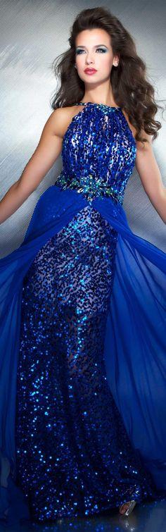 Mac Duggal couture dress electric blue #josephine#vogel