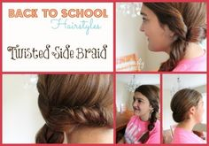 Back To School Hairstyles - Twisted Side Braid