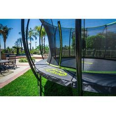 14' Stratos Round Trampoline with Enclosure #trampoline #stratos #skybound