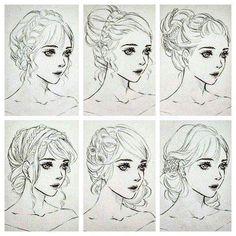 Fantasting Drawing Hairstyles For Characters Ideas. Amazing Drawing Hairstyles For Characters Ideas. Manga Drawing Tutorials, Art Tutorials, Cartoon Kunst, Cartoon Art, Compass Art, Wie Zeichnet Man Manga, Manga Hair, Hair Sketch, Robot Concept Art