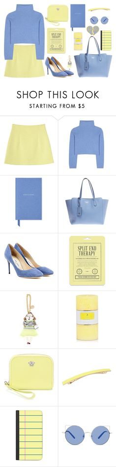 """Love is like a lottery"" by agonyfeelsgood ❤ liked on Polyvore featuring Monki, The Row, Smythson, Gucci, Jimmy Choo, Love 21, Muveil, Versace, L. Erickson and Casetify"