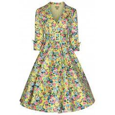 Vivi' Yellow Floral Swing Dress