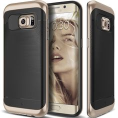 Caseology® Galaxy S7 Edge case [Wavelength Series] [Black/Gold]