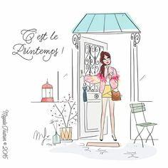 It's Spring! #GirlIllustration / È Primavera! #RagazzaIllustrazione - Art by Magalie Foutrier