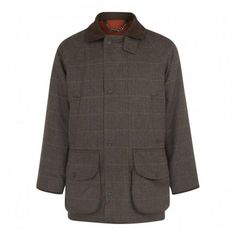 5dfc5781 Men's brown herringbone tweed field coat with purple and tan windowpane  overcheck. Country Lifestyle,