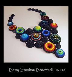 Bead Embroidered Collar Necklaces by Betty Stephan Beadwork