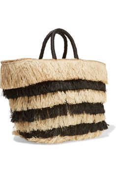 Black and beige seagrass Drawstring top Weighs approximately 1.5lbs/ 0.7kg Imported
