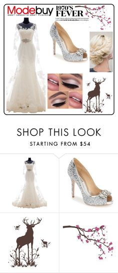 """love my wedding"" by angel-oasis on Polyvore featuring Badgley Mischka, Surface Collective, women's clothing, women, female, woman, misses and juniors"