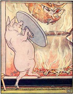 1930s children's book illustration by Leslie Brooke