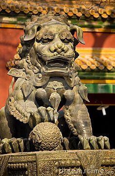 Dragon Bronze Statue Yonghe Gong Temple Beijing
