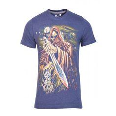 Avenster Cerulean Blue Graphic T Shirt-₹299.00