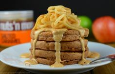 Ingredients Pancakes 1/4 cup almond flour 1 tsp coconut flour 1 tsp apple pie spice 1/2 tsp baking powder 1 large egg 1 tbs unsweetened apple sauce 1 tsp coconut oil 1/4 tsp vanilla extract liquid stevia, if desired Topping 1-2 tbs salted caramel peanut butter Apples, spiralized or sliced [...]