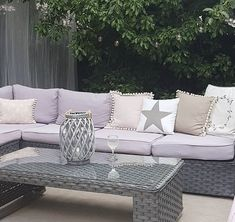 The PAPAVER range collection has been hand-made for highest possible standard, which combines thick flat weave and round weave finished in the edge areas and armrest. It is available in grey, black and brown versions. Rattan Corner Sofa, Corner Sofa Set, Garden Sofa Set, Garden Cushions, Large Grey Cushions, Grey Rattan Garden Furniture, Outdoor Sofa, Outdoor Decor, Under The Table