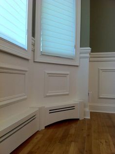 baseboards looks like a beautiful way to disguise floorboard heaters love the color on
