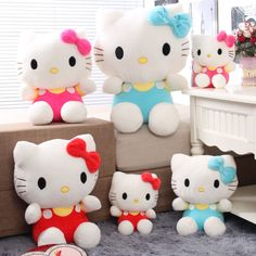 1pcs Sitting height 20cm Hello Kitty soft plush toys High quality and Best price toys Gift for girls Free shipping US $8.75