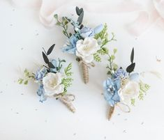 Mom Quotes From Daughter Discover Floral boutonniere Blue Button hole Wedding Groomsman boutonniere Summer wedding Rustic wedding Francé boutonniere Woodland wedding Blue Wedding Flowers, Floral Wedding, Wedding Bouquets, Wedding White, Wedding Summer, Wedding Centerpieces, Wedding Colors, Bridal Bouquet Blue, Tall Centerpiece
