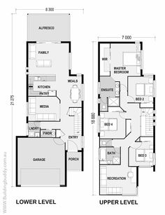Lillipilli - Small Lot House Floorplan by http://www.buildingbuddy.com.au/home-designs-main/small-lot-house-plans/