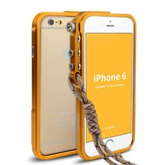 2015 Car Covers Freeshipping No New Arrival Luxury Aluminum Metal Button Hard Cleave Frame Bumper Cover For Iphone6/4.7