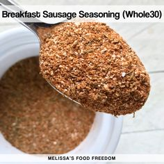 56 Ideas breakfast sausage spices meat for 2019 Whole30 Breakfast Sausage, Breakfast Sausage Seasoning, Sausage Spices, Pork Sausage Recipes, Homemade Sausage Recipes, Homemade Breakfast Sausage, Homemade Spices, Homemade Seasonings, Breakfast Recipes