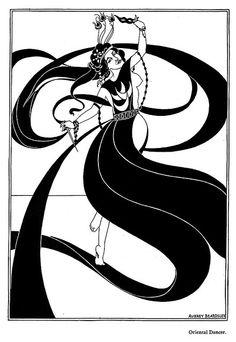 Aubrey Beardsley — Oriental Dancer... Rhythm & Movement, Principles of Design