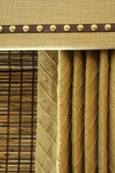 Custom Drapery Designs, LLC. - Cornice Board, Woven Wood Blind & Drapery.... 3 Fabulous Layers