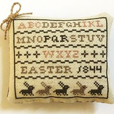 Easter Sampler, Stitched By Michelle Of Arcadecache