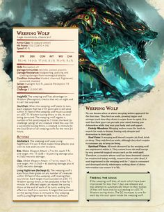 You want more Dnd? Dnd Dragons, Dungeons And Dragons 5e, Dungeons And Dragons Homebrew, Wolf Rpg, Dnd Stats, Dnd Classes, Dnd 5e Homebrew, Dnd Monsters, Scary Monsters