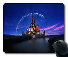 Custom Gaming Mouse Pad with Wallpaper Disney Castle Artwork Illust Sky NonSlip Neoprene Rubber Standard Size 9 Inch220mm X 7 Inch180mm X 18 Inch3mm Desktop Mousepad Laptop Mousepads Comfortable Computer Mouse Mat *** You can find out more details at the link of the image.