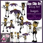 Here are 12 bee clip art images! There are a mix of images showing the bee on her own and a bee with a flower.  These images are saved at 300 dpi a...