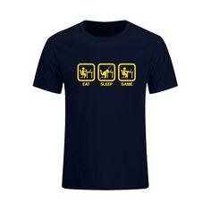 New Fashion Eat Sleep Game XBOX Gamer Funny T-shirt Men Humor Casual Printed College Mens Short Sleeve T Shirt  Brand Clothing //Price: $19.36 & FREE Shipping //  #gamergirl #gaming #video #game #winning