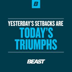 """""""Yesterday's Setbacks Are Today's Triumphs. Back Fat Workout, Fat To Fit, Sports Nutrition, You Fitness, Life Goals, Beast, Bodybuilding, Fitness Motivation, Inspirational Quotes"""