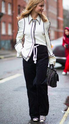 Don't match. Coordinate. Pernille Teisbaek's half tucked shirt. The Vogue Edit.