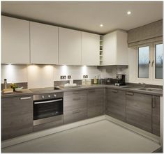Choose Best Color For Small Kitchen Remodel - homeexalt - Modern Kitchen Kitchen Room Design, Kitchen Cabinet Design, Modern Kitchen Design, Home Decor Kitchen, Kitchen Layout, Interior Design Kitchen, Kitchen Cupboard, Kitchen Furniture, Modern Kitchen Interiors