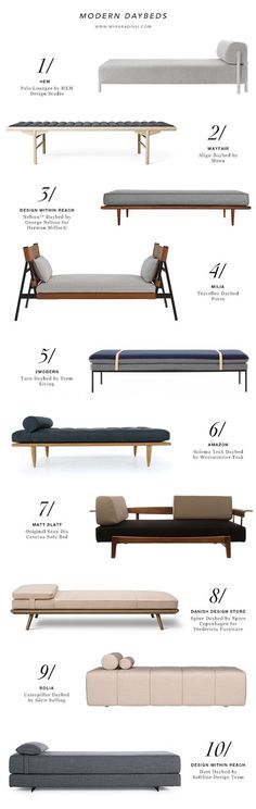 9 Easy Ways To Add Simple But Effective Decoration Deisgn Style - 10 best modern daybeds More The Best of inerior design in Contemporary Living Room Furniture, Living Room Modern, Modern Furniture, Contemporary Daybeds, Rustic Furniture, Living Rooms, Bench Furniture, Design Furniture, Furniture Ideas
