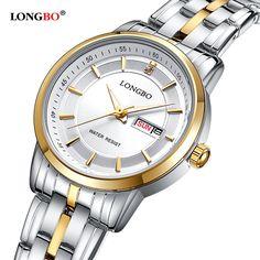 >> Click to Buy << LONGBO Luxury Brand 2016 Leisure Couple Watch Fashion Quartz Wristwatches Stainless Steel Date Calendar Waterproof Men 80146 #Affiliate