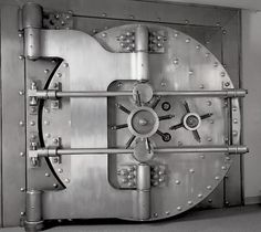 Bank vault door idea                                                                                                                                                      More
