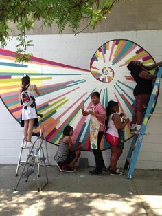 1000 images about school hallway ideas on pinterest for Community mural ideas