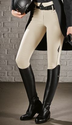 Equiline Ash Breech from Exceptional Equestrian. I love the boots AND the breeches! Equestrian Boots, Equestrian Outfits, Equestrian Style, Equestrian Fashion, Riding Gear, Riding Boots, Riding Breeches, Horse Riding Shoes, Estilo Preppy