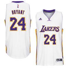 Men s Los Angeles Lakers Kobe Bryant adidas White Player Swingman Home  Jersey 116aa2cae