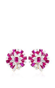 Farah Khan Mozambique Ruby Earrings by Farah Khan Fine Jewelry for Preorder on Moda Operandi