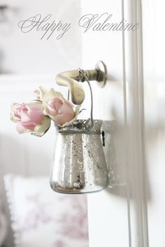 ♥ could make a container like this into mercury glass
