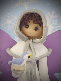 *POLYMER CLAY ~ Winter Fairy. porcelana fria polymer clay