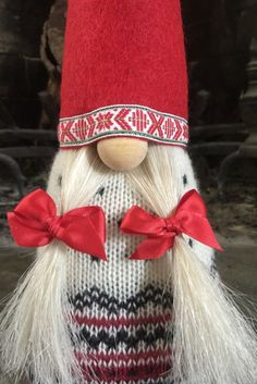 Nordic Gnome a Scandinavian Tomte handmade in all natural materials by NordicGnomes on Etsy
