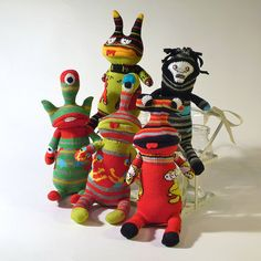 OddSox Sock Monsters by OddSoxUK, via Flickr