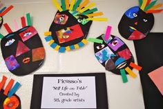 """Picasso!  Perfect """"masks"""" younger kids can make."""