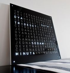 """I have been seeing these """"Word Clocks"""" all over the internet for the past few years, but they never really impressed me much. Mostly because there is nothing special about them (from the electronics point of view) but after seeing QlockTwo made by Biegert&Funk I simply couldn't resist making one that looks that nice."""
